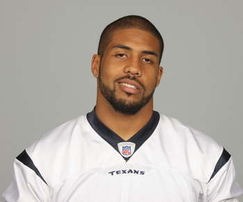 HOUSTON,  TX - CIRCA 2010:  In this photo provided by the NFL, Arian Foster of the Houston Texans poses for his 2010 NFL headshot circa 2010 in Houston, Texas. (Photo by NFL via Getty Images)