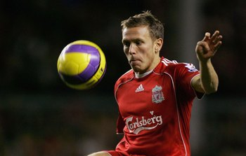 LIVERPOOL, UNITED KINGDOM - NOVEMBER 25: Craig Bellamy of Liverpool in action during the Barclays Premiership match between Liverpool and Manchester City at Anfield on November 25, 2006 in Liverpool, England. (Photo by Gary Prior/Getty Images)