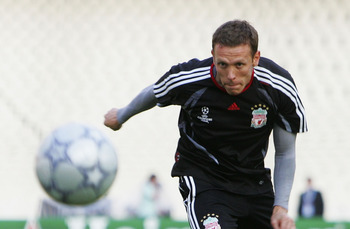 ATHENS, GREECE - MAY 22:  Craig Bellamy of Liverpool heads the ball on goal during the Liverpool training session prior to the UEFA Champions League Final between AC Milan and Liverpool at the Olympic Stadium on May 22, 2007 in Athens, Greece.  (Photo by 