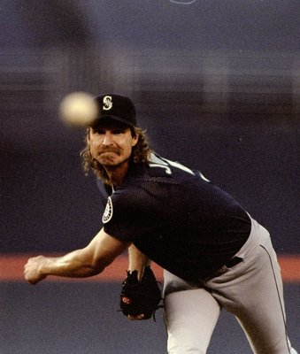 24 Jun 1998:  Randy Johnson #51 of the Seattle Mariners in action during an interleague game against the San Diego Padres at Qualcomm Stadium in San Diego, California.  The Mariners defeated the Padres 2-1. Mandatory Credit: Todd Warshaw  /Allsport