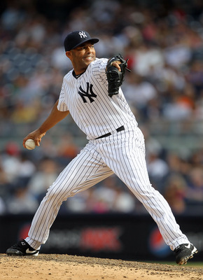 NEW YORK, NY - SEPTEMBER 05:  Mariano Rivera #42 of the New York Yankees pitches against the Baltimore Orioles on September 5, 2011 at Yankee Stadium in the Bronx borough of New York City.  (Photo by Jim McIsaac/Getty Images)