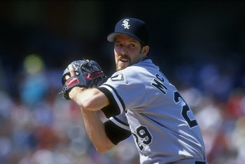 18 Sep 1993:  Pitcher Jack McDowell #29 of the Chicago White Sox in his wind up during a game against the Oakland Athletics at the Oakland Coliseum in Oakland, California. Mandatory Credit: Otto Greule Jr.  /Allsport