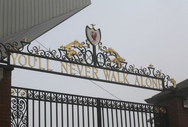 LIVERPOOL, UNITED KINGDOM - FEBRUARY 06:  The Shankly gates stand outside the Anfield football ground on February 6, 2007, in Liverpool, England.  American business partners George Gillett and Tom Hicks have reached a deal to buy the football club in a de