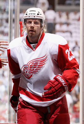 Brad Stuart, the only player on Detroit's roster last season acquired by trade.