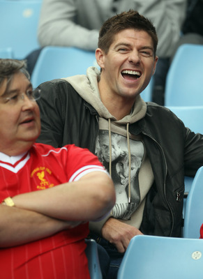 Steven Gerrard hears of Christian Poulsen's transfer