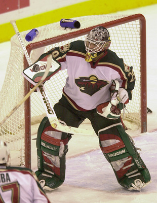 20 Dec 2000:  Jamie McLennan #29 of the Minnesota Wild stops a shot by the Ottawa Senators during the third period at the Xcel Energy Center in St. Paul, Minnesota. The game ended in a 2-2 tie. DIGITAL IMAGE. Mandatory Credit: Elsa/ALLSPORT