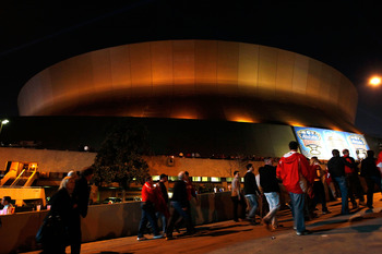 The Louisiana Superdome on Sugar Bowl Night.