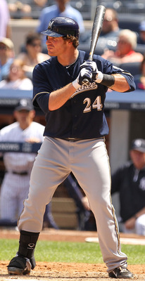 NEW YORK, NY - JUNE 30:  Mat Gamel #24 of the Milwaukee Brewers  in action against the New York Yankees during their game on June 30, 2011 at Yankee Stadium in the Bronx borough of New York City.  (Photo by Al Bello/Getty Images)