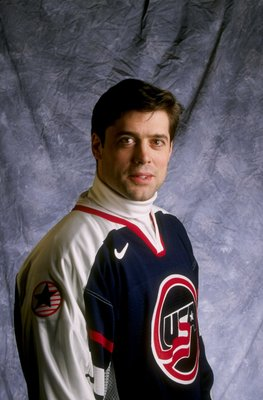 16 Jan 1998:  Center Pat LaFontaine of the United States Olympic Hockey Team poses for a photograph at the Hyatt Regency Hotel in Vancouver, Canada. Mandatory Credit: Rick Stewart  /Allsport