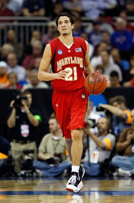 KANSAS CITY, MO - MARCH 21:  Greivis Vasquez #21 of the Maryland Terrapins dribbles the ball upcourt during their second round game against the Memphis Tigers in the NCAA Division I Men's Basketball Tournament at the Sprint Center on March 21, 2009 in Kan