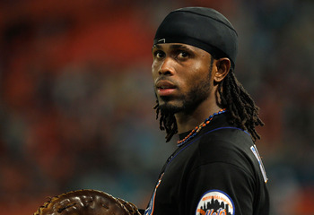 MIAMI GARDENS, FL - SEPTEMBER 05:  Jose Reyes #7 of the New York Mets looks on during a game against the Florida Marlins at Sun Life Stadium on September 5, 2011 in Miami Gardens, Florida.  (Photo by Mike Ehrmann/Getty Images)