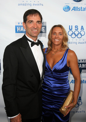 CHICAGO - AUGUST 12: John Stockton of the 1992 Mens Baskerball Team and his wife attends the 2009 U.S. Olympic Hall of Fame Induction Ceremony at McCormick Place on August 12, 2009 in Chicago, Illinois. (Photo by Tasos Katopodis/Getty Images for USOC)