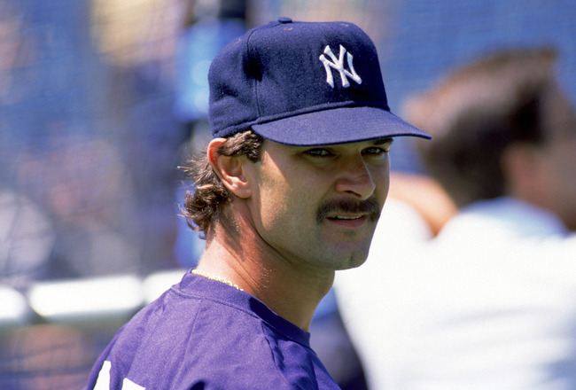 TORONTO - 1988:  Don Mattingly #23 of the New York Yankees looks on during batting practice prior to a game against the Toronto Blue Jays during the 1988 MLB season at SkyDome in Toronto, Ontario.  (Photo by Rick Stewart/Getty Images)
