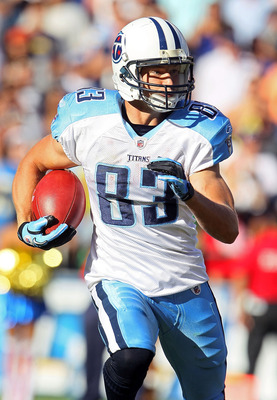 SAN DIEGO - OCTOBER 31:  Marc Mariani #83 of the Tennessee Titans carries the ball against the San Diego Chargers in the game at Qualcomm Stadium on October 31, 2010 in San Diego, California. The Chargers defeated the Titans 33-25.  (Photo by Jeff Gross/G