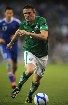 DUBLIN, IRELAND - SEPTEMBER 02:  Robbie Keane of Ireland during the UEFA EURO 2012 group B Qualifier match between Republic of Ireland and Slovakia at the AVIVA Stadium on September 2, 2011 in Dublin, Ireland.  (Photo by Christopher Lee/Getty Images)