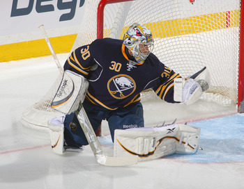 BUFFALO, NY - FEBRUARY 25:  Ryan Miller #30 of the Buffalo Sabres plays in goal against the Ottawa Senators at HSBC Arena on February 25, 2011 in Buffalo, New York. Buffalo won 4-2.  (Photo by Rick Stewart/Getty Images)