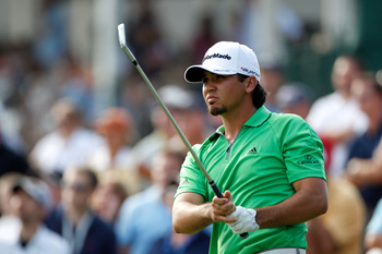 NORTON, MA - SEPTEMBER 03:  Jason Day of Australia watches his tee shot on the 16th hole during the second round of the Deutsche Bank Championship at TPC Boston on September 3, 2011 in Norton, Massachusetts.  (Photo by Michael Cohen/Getty Images)