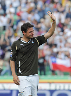 UDINE, ITALY - MAY 08:  Mauro Zarate of SS Lazio shows his dejection after the Serie A match between Udinese Calcio and SS Lazio at Stadio Friuli on May 8, 2011 in Udine, Italy.  (Photo by Dino Panato/Getty Images)