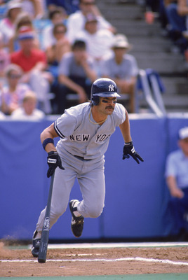 TORONTO - 1988:  Don Mattingly #23 of the New York Yankees runs out of the batters box during a 1988 MLB season game against the Toronto Blue Jays at SkyDome in Toronto, Ontario.  (Photo by Rick Stewart/Getty Images)