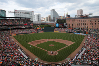 BALTIMORE, MD - JUNE 26:  General view of the Cincinnati Reds and Baltimore Orioles game at Oriole Park at Camden Yards on June 26, 2011 in Baltimore, Maryland.  (Photo by Rob Carr/Getty Images)