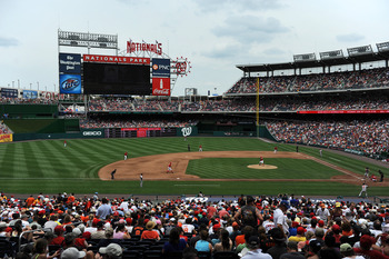 WASHINGTON, DC - JUNE 18: A general view of Nationals Park during the game between the Baltimore Orioles  and the Washington Nationals on June 18, 2011 in Washington, DC. (Photo by Patrick Smith/Getty Images)