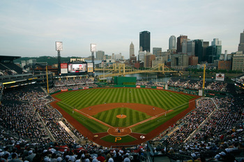 PITTSBURGH - MAY 07:  A view of downtown Pittsburgh during the Pittsburgh Pirates game against the St Louis Cardinals on May 7, 2010 at PNC Park in Pittsburgh, Pennsylvania.  (Photo by Jared Wickerham/Getty Images)