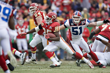 Jamaal Charles might fancy his chances against the Bills