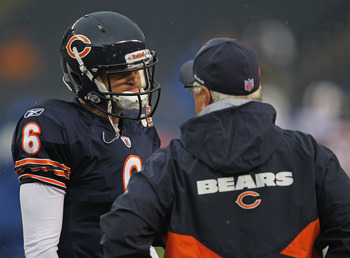 Jay Cutler is unhappy Mike Martz believes an offensive line is optional