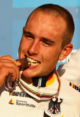 GEELONG, AUSTRALIA - OCTOBER 01:  John Degenkolb of Germany poses with his medal after the Men's Under 23 Road Race on day three of the UCI Road World Championships on October 01, 2010 in Geelong, Australia.  (Photo by Quinn Rooney/Getty Images)