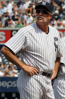 NEW YORK - JULY 17:  Rich 'Goose' Gossage looks on during the New York Yankees 64th Old-Timer's Day before the MLB game against the Tampa Bay Rays on July 17, 2010 at Yankee Stadium in the Bronx borough of New York City.  (Photo by Jim McIsaac/Getty Image