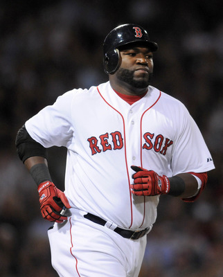 BOSTON, MA - SEPTEMBER 1:  David Ortiz #34 of the Boston Red Sox runs to first base in the second inning against the New York Yankees at Fenway Park on September 1, 2011 in Boston, Massachusetts. The Yankees won the game 4-2. (Photo by Darren McCollester/