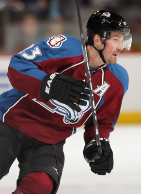 DENVER, CO - FEBRUARY 23:  Milan Hejduk #23 of the Colorado Avalanche skates against the Edmonton Oilers at the Pepsi Center on February 23, 2011 in Denver, Colorado. The Oilers defeated the Avalanche 5-1.  (Photo by Doug Pensinger/Getty Images)