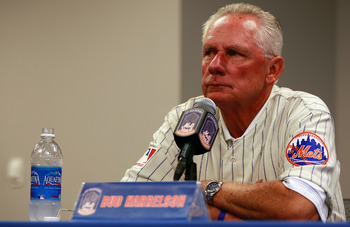 NEW YORK - AUGUST 22:  Bud Harrelson speaks at a press conference commemorating the New York Mets 40th anniversary of the 1969 World Championship team on August 22, 2009 at Citi Field in the Flushing neighborhood of the Queens borough of New York City.  (