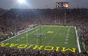 Michigan will host Notre Dame in the first game under lights at Michigan Stadium.