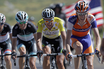 Robert Gesink in action at the USA Pro Cycling Challenge