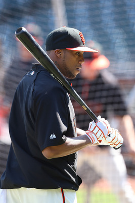 SAN FRANCISCO, CA - SEPTEMBER 03: Darren Ford #34 of the San Francisco Giants takes batting practice before a game against the Arizona Diamondbacks at AT&T Park on September 3, 2011 in San Francisco, California.  (Photo by Tony Medina/Getty Images)