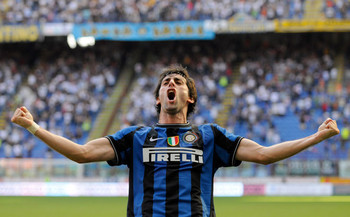 Diego Milito, one of the league's prolific scorers, will look to power Inter to the summit.