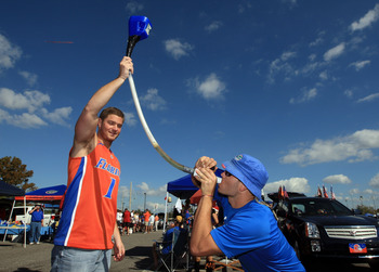 JACKSONVILLE, FL - OCTOBER 30:  Fans tailgate at EverBank field prior to the game between the Georgia Bulldogs and the Florida Gators on October 30, 2010 in Jacksonville, Florida.  (Photo by Sam Greenwood/Getty Images)