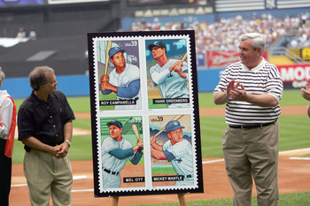 Mel Ott (lower left) now graces a postage stamp.