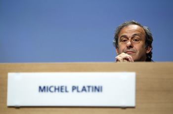 ZURICH, SWITZERLAND - JUNE 01:  Michel Platini, FIFA Vice President looks on during the 61st FIFA Congress at Hallenstadion on June 1, 2011 in Zurich, Switzerland.  (Photo by Julian Finney/Getty Images)