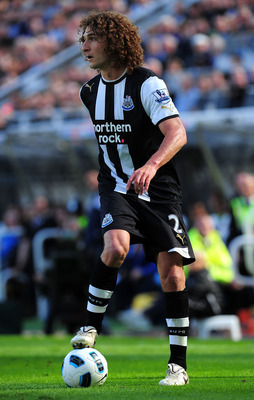 NEWCASTLE UPON TYNE, ENGLAND - MAY 22:  Newcastle player Fabricio Coloccini in action during the Barclays Premier League game between Newcastle United and West Bromwich Albion at St James' Park on May 22, 2011 in Newcastle upon Tyne, England.  (Photo by S