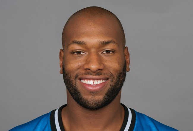 DETROIT, MI - CIRCA 2011: In this handout image provided by the NFL,  Lawrence Jackson of the Detroit Lions poses for his NFL headshot circa 2011 in Detroit, Michigan.  (Photo by NFL via Getty Images)
