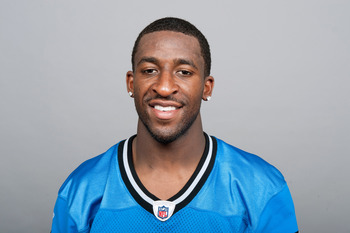 DETROIT, MI - CIRCA 2011: In this handout image provided by the NFL,  Eric Wright of the Detroit Lions poses for his NFL headshot circa 2011 in Detroit, Michigan.  (Photo by NFL via Getty Images)