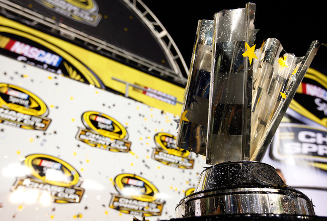 RICHMOND, VA - SEPTEMBER 10:  A view of the Sprint Cup trophy after the NASCAR Sprint Cup Series Wonderful Pistachios 400 at Richmond International Raceway on September 10, 2011 in Richmond, Virginia.  (Photo by Chris Graythen/Getty Images)