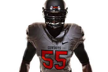 Oklahoma State's grey uniforms