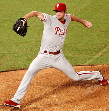 MIAMI GARDENS, FL - SEPTEMBER 03:  Cole Hamels #35 of the Philadelphia Phillies pitches during a game against the Florida Marlins at Sun Life Stadium on September 3, 2011 in Miami Gardens, Florida.  (Photo by Mike Ehrmann/Getty Images)