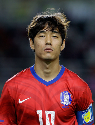 GOYANG, SOUTH KOREA - SEPTEMBER 02:  Park Chu-Young of South Korea lines up during the 2014 FIFA World Cup Brazil Asian 3rd Qualifier match between South Korea and Lebanon at Goyang stadium on September 2, 2011 in Goyang, South Korea.  (Photo by Chung Sun