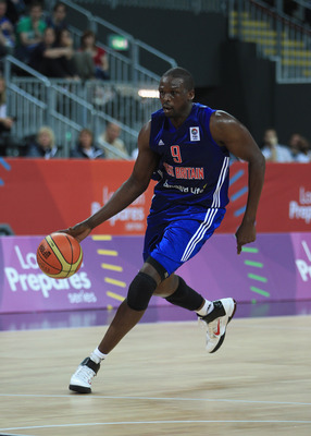 LONDON, ENGLAND - AUGUST 21:  Luol Deng of Briatain in action during the LOCOG Test Event for London 2012 London International Basketball Invitational match between Great Britain and Australia at Basketball Arena on August 21, 2011 in London, England.  (P