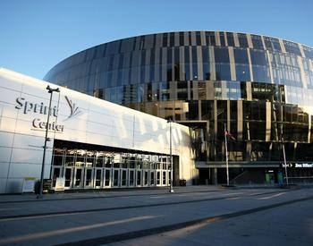 The Sprint Center in Kansas City, which will host an NHL game this preseason. (Photo Credit: CatesSheetMetal.com)