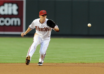 PHOENIX, AZ - JUNE 17:  Stephen Drew #6 of the Arizona Diamondbacks makes a play on a ground ball against the Chicago White Sox at Chase Field on June 17, 2011 in Phoenix, Arizona.  (Photo by Norm Hall/Getty Images)